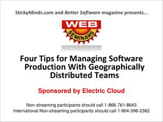 StickyMinds.com and  Better Software  magazine presents…