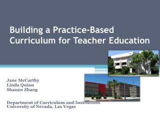 Building a Practice-Based Curriculum for Teacher Education