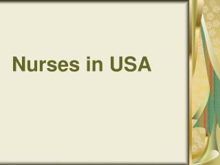 Nurses in USA