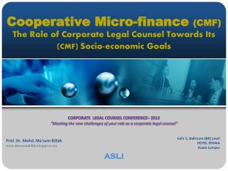CORPORATE  LEGAL COUNSEL CONFERENCE - 2012