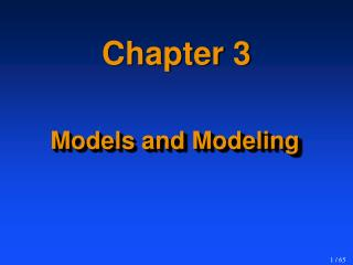 Models and Modeling