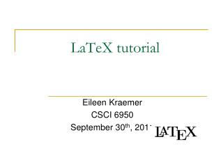 LaTeX tutorial