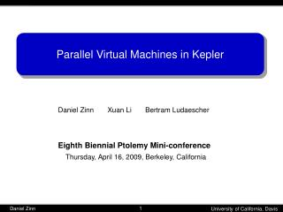 Parallel Virtual Machines in Kepler