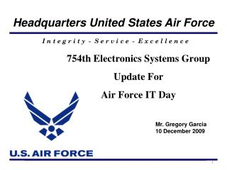 754th Electronics Systems Group Update For  Air Force IT Day