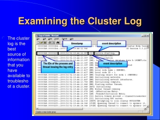 Examining the Cluster Log