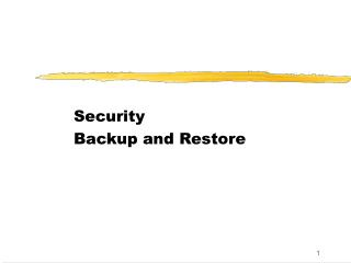 Security Backup and Restore