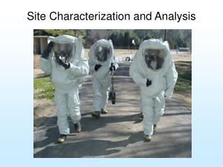 Site Characterization and Analysis