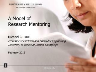 A Model of  Research Mentoring