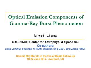 Optical Emission Components of Gamma-Ray Burst Phenomenon