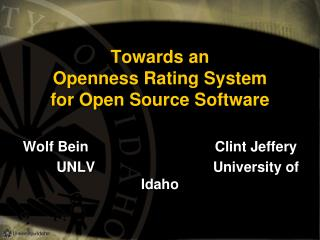 Towards an Openness Rating System for Open Source Software