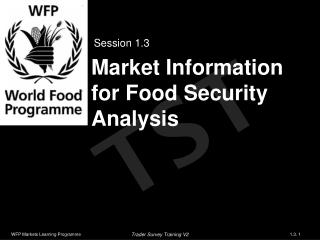 Market Information for Food Security Analysis