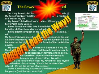 The PowerPoint Ranger Creed