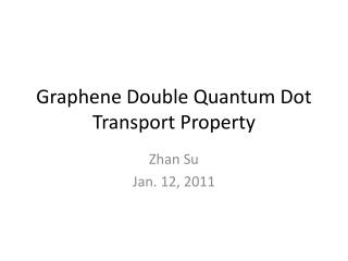 Graphene  Double Quantum Dot Transport Property