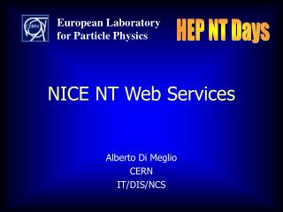 NICE NT Web Services