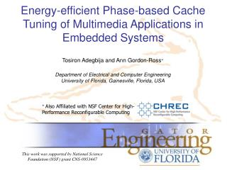 Energy-efficient Phase-based Cache Tuning of Multimedia Applications in Embedded Systems