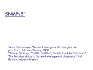 SNMPv3 *