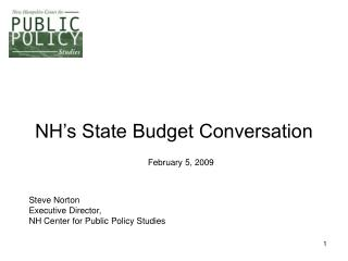 NH's State Budget Conversation