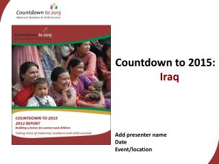 Countdown to 2015:  Iraq