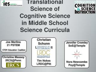 Translational Science of Cognitive Science in Middle School Science Curricula