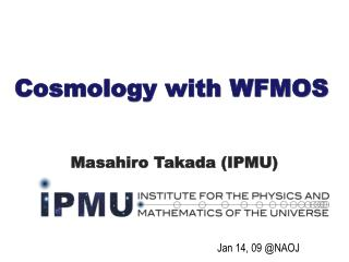 Cosmology with WFMOS