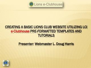 LIONS CLUBS VS. WEBSITE STATISTICS