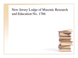 New Jersey Lodge of Masonic Research and Education No. 1786