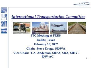 I nternational Transportation Committee