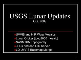 USGS Lunar Updates Oct. 2008