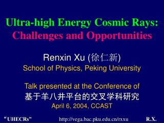 Ultra-high Energy Cosmic Rays:  Challenges and Opportunities