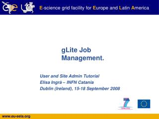 gLite Job Management.