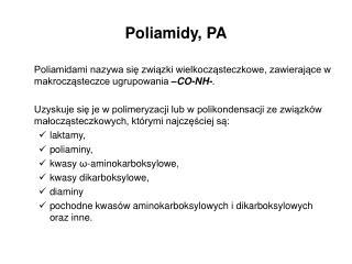 Poliamidy, PA