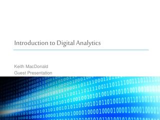 Introduction to Digital Analytics