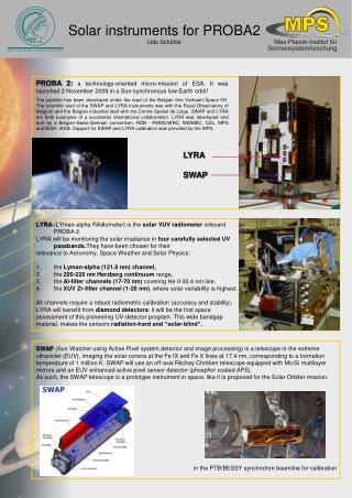 Solar instruments for PROBA2 Udo Schühle