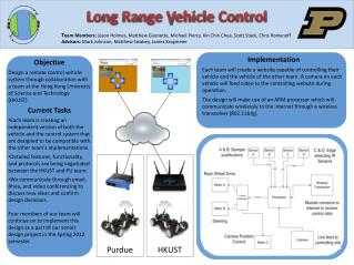 Long Range Vehicle Control