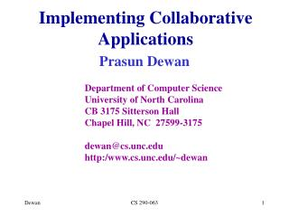 Implementing Collaborative Applications