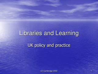 Libraries and Learning