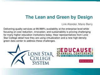 The Lean and Green by Design