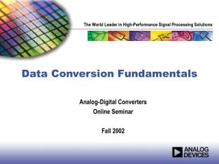 Data Conversion Fundamentals