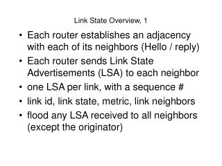 Link State Overview, 1