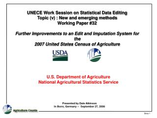 U.S. Department of Agriculture National Agricultural Statistics Service