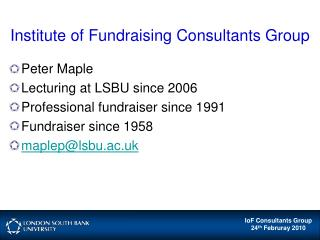 Institute of Fundraising Consultants Group