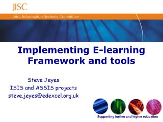 Implementing E-learning Framework and tools