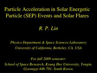 Particle Acceleration in Solar Energetic Particle (SEP) Events and Solar Flares