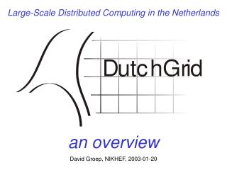 Large-Scale Distributed Computing in the Netherlands