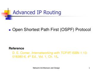Advanced IP Routing