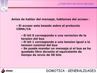 DOMOTICA - GENERALIDADES