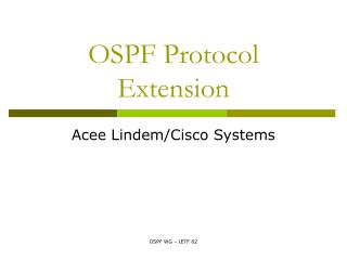 OSPF Protocol Extension