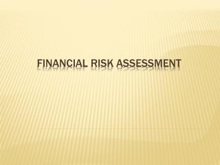 FINANCIAL RISK ASSESSMENT