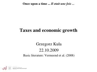 Taxes and economic growth
