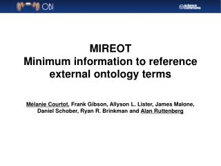 MIREOT Minimum information to reference external ontology terms